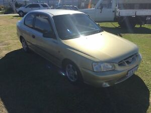 2002 Hyundai Accent 113467KM FULL BOOKS Gold Manual Coupe Wangara Wanneroo Area Preview
