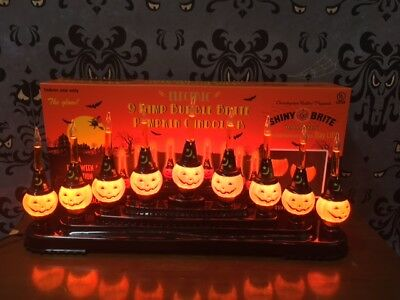 NEW Radko Shiny Brite Halloween Bubble Pumpkin Light Candolier 4027506 (Shiny Brite Halloween)