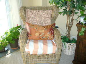 Beautiful large size Wicker Wing chair