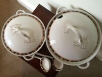 Two Antique Woods of Windsor Tureens with Ladles