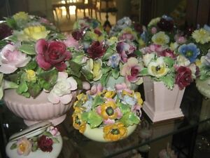 Bone China - Flowers, Cup & Saucers, Oddments