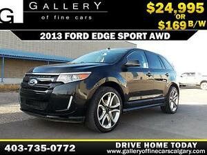 2013 Ford Edge SPORT AWD $169 bi-weekly APPLY NOW DRIVE NOW