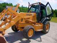Backhoe skid steer and ton dump truck available for hire