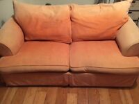 3 seater sofa bed by Vokins - orange