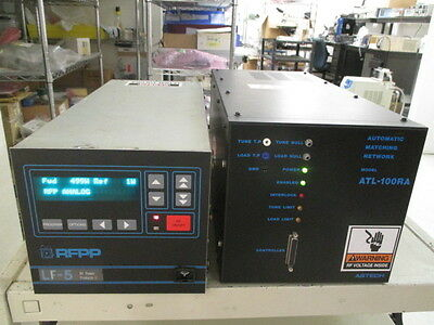 RFPP LF-5 RF Generator, AMAT 0920-01014, with Astech ATL-100RA RF Match, 399400