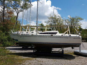 1984 Jeanneau Tonic 23 Sailboat, Cradle and Outboard