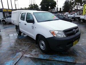 2006 Toyota Hilux TGN16R 06 Upgrade Workmate White 5 Speed Manual Dual Cab Pick-up Homebush West Strathfield Area Preview