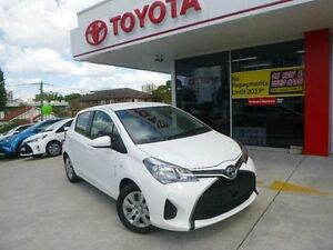 2015 Toyota Yaris NCP130R MY15 Ascent Glacier White 4 Speed Automatic Hatchback Allawah Kogarah Area Preview