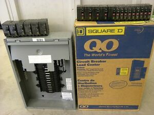 "100 Amp Square ""D"" Electrical Panel complete with breakers"