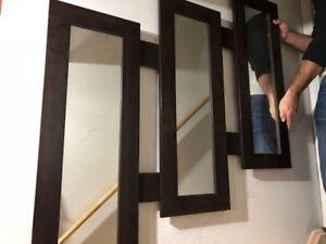 Modern Wood Framed Mirror