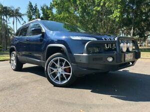2015 Jeep Cherokee KL MY15 Limited (4x4) Blue 9 Speed Automatic Wagon Woodridge Logan Area Preview