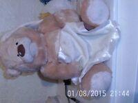 Morrisons Peek-a-Boo Soft Teddy Bear - Excel Condition