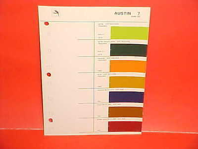 1979 1980 1981 AUSTIN MARINA MAXI ALLEGRO BRITISH LEYLAND GLASURIT PAINT CHIPS