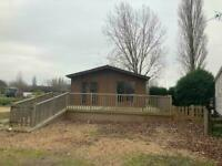 2 bed Luxury Twin Lodge with large decking Call JAMES on 07495 668377