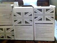 3 x Boxes of white tiles