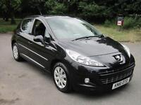 PEUGEOT 207 1.4 ACTIVE 5DR (A/C) BLACK 2011 (61) ONLY 38K JUST SERVICED + MOT'D!