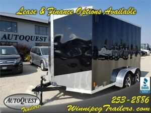 "RC 7' x 12' x 84"" V-Nose Enclosed Cargo Trailer - 7000k"