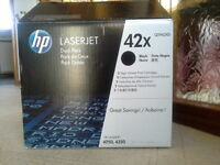 HP Laserjet print cartridges.