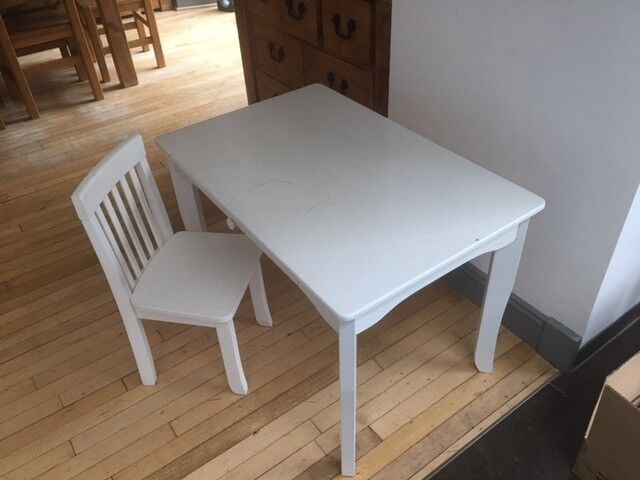 Childrens White Desk And Chair