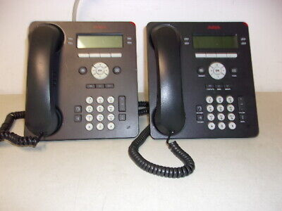 Lot Of 2 Avaya 9504 4 Line Ip Business Phones
