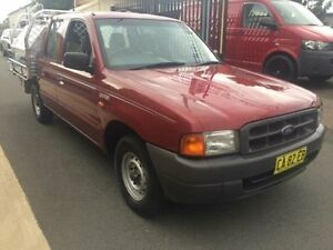 2000 Ford Courier PE GL Burgundy 5 Speed Manual Crew Cab P/Up Kooragang Newcastle Area Preview