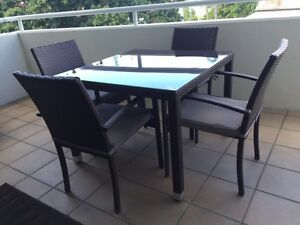 Outdoor Glass Top Dining Table and Chairs New Farm Brisbane North East Preview