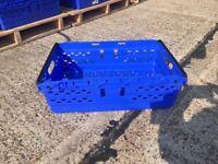 Circa 1000 x Blue Plastics Bale arm Crates