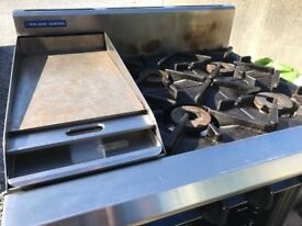 Blue Seal Commercial Gas Cooker 4 Burner with Griddle