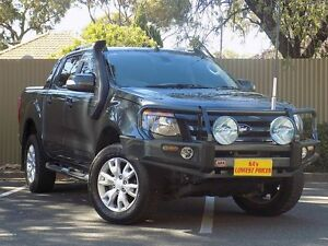 2012 Ford Ranger PX Wildtrak Double Cab Grey 6 Speed Sports Automatic Utility Blair Athol Port Adelaide Area Preview