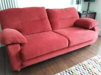 Sofa - three seater, good quality, 2 available