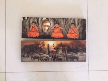 Buddha canvas frame