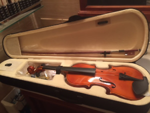 Full Size Natural Maple Beginners Violin/Fiddle +Accessories NEW
