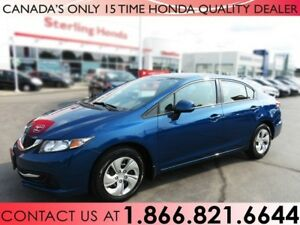 2013 Honda Civic LX | 1 OWNER | NO ACCIDENTS