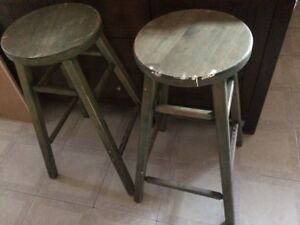 Sold wood counter height stools