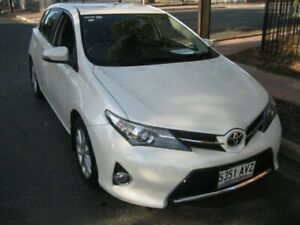 2013 Toyota Corolla ZRE182R Ascent Sport Crystal Clear White 7 Speed CVT Auto Sequential Hatchback Prospect Prospect Area Preview