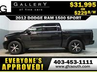 2012 DODGE RAM SPORT CREW **EVERYONE APPROVED** $0 DOWN $229/BW!
