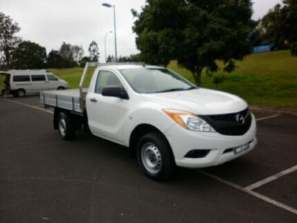 2012 Mazda BT-50 B22P XT 4x2 Cool White 6 Speed Manual Cab Chassis South Lismore Lismore Area Preview