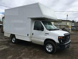 2012 FORD ECONOLINE COMMERCIAL E-350 SD CUBE VAN