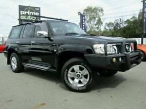 2011 Nissan Patrol GU VII ST (4x4) Black 4 Speed Automatic Wagon Underwood Logan Area Preview