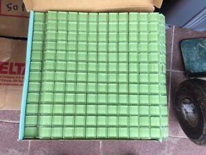green glass wall tile