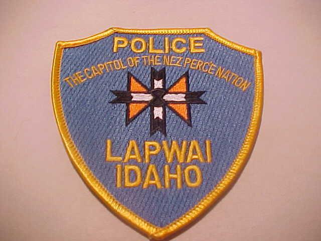 LAPWAI IDAHO POLICE PATCH SHOULDER SIZE UNUSED