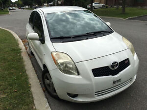 2006 TOYOTA YARIS RS WHITE HATCHBACK