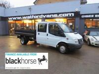 2013 Ford Transit T350 2.2TDCi 100ps Double Cab Tipper E/Windows Diesel white M