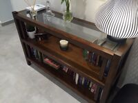 LAURA ASHLEY GLASS TOP BOOKCASE