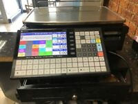 Used, ISHIDA Digital Counter top Price computing Labelling Scale and Till Machine for sale  Bearsden, Glasgow