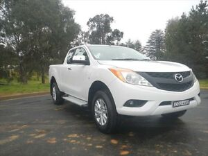 2013 Mazda BT-50 UP0YF1 XTR Freestyle Cool White 6 Speed Manual Utility Young Young Area Preview