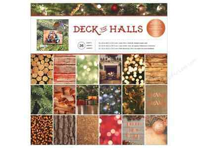 12 x 12 American Crafts Christmas Deck the Halls 36 pages Scrapbook Paper Pad](Paper Christmas Crafts)