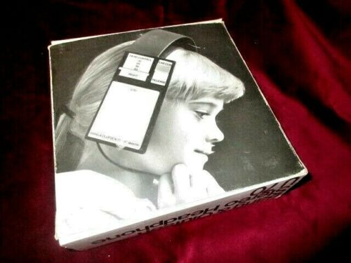 UNIQUE VINTAGE B&O BANG & OLUFSEN U70 STEREO HEADPHONES BOXED FROM 70s