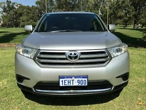 2013 Toyota Kluger GSU45R MY12 KX-R AWD Silver 5 Speed Sports Automatic Wagon Embleton Bayswater Area Preview