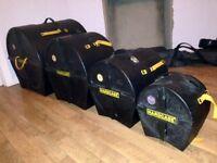 Harcase drum cases, Fusion sizes (16, 13, 10)